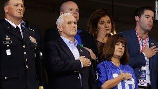 Pence leaves NFL game over anthem kneeling