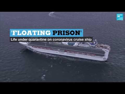 'Floating prison': Life on board coronavirus cruise ship