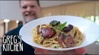 Creamless Creamy Crispy Salami Pasta Recipe - Greg's Kitchen
