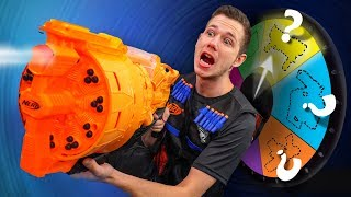 NERF Weapon Roulette Challenge!