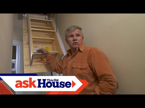 How To Replace A Pull Down Attic Staircase Youtube