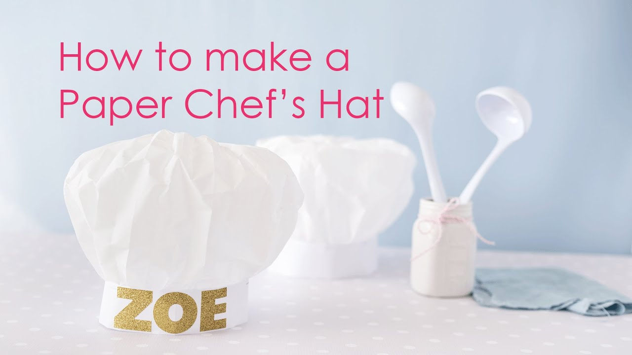 How-to make a Paper Chef's Hat - YouTube