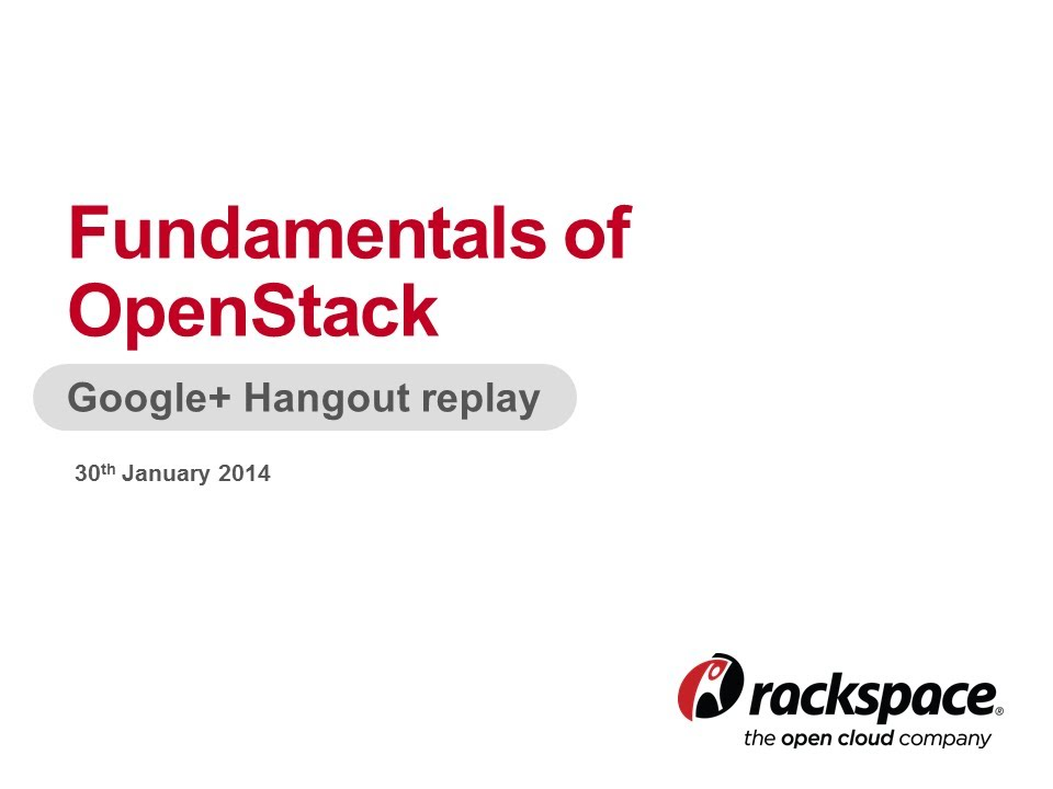 Rackspace Academy Fundamentals Of Openstack Youtube