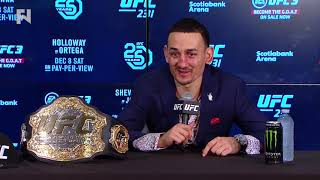 UFC 231: Max Holloway Post-Fight Press Conference - I Want to Be Done Fighting in My Mid 30s