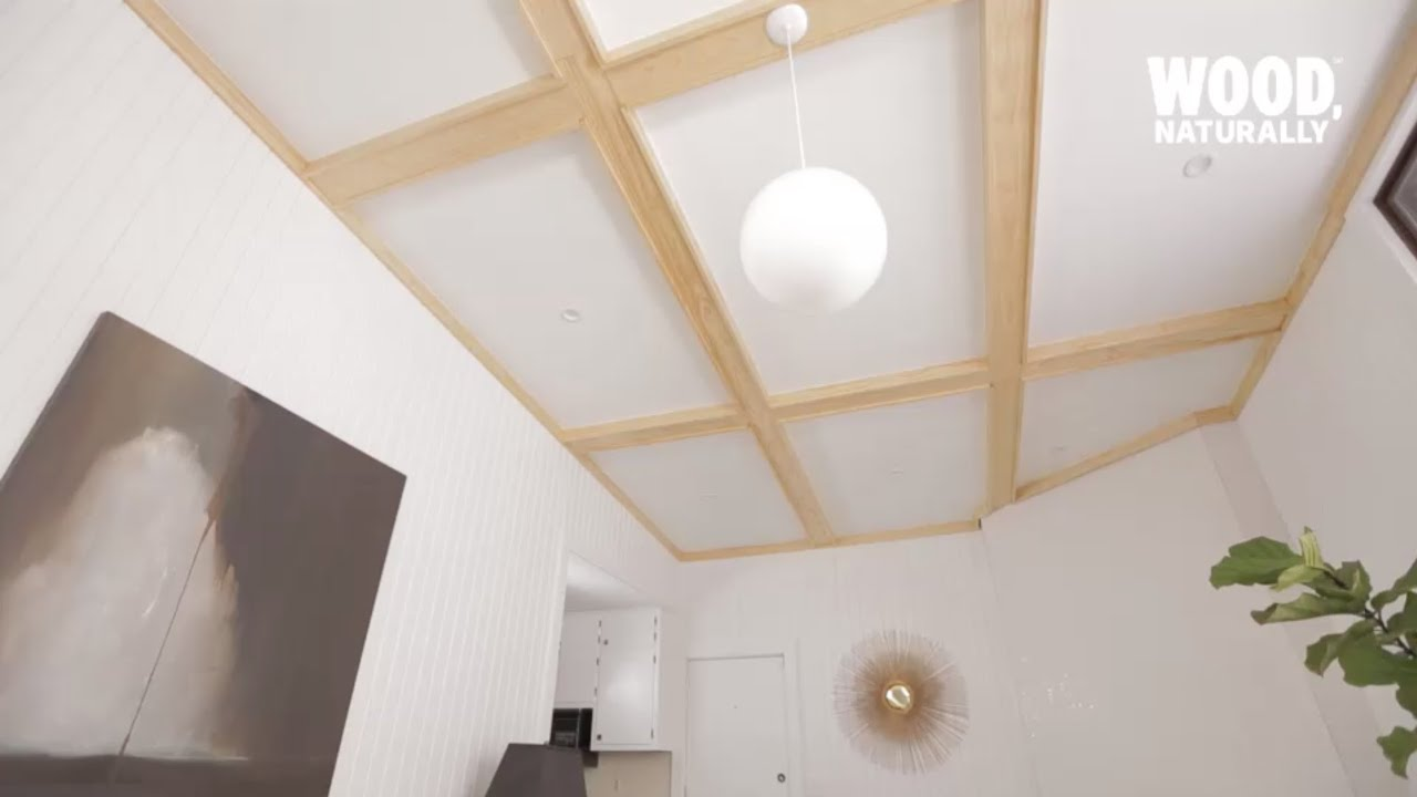 How to Install Coffered Ceilings - YouTube