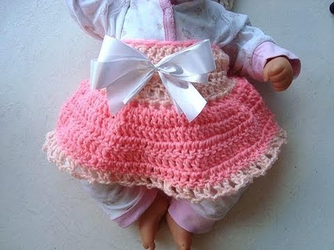 Crochet Diaper Cover Skirt For Baby Crochet Pattern Youtube