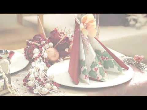 Pliage De Serviettes Pour Votre Table De Fête Pyramide Youtube