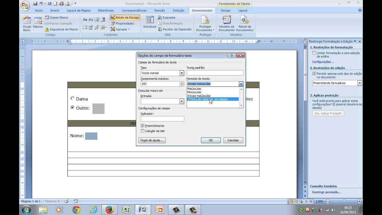 2ce0c1b714070 Série como saber  Word - Formulário I - YouTube