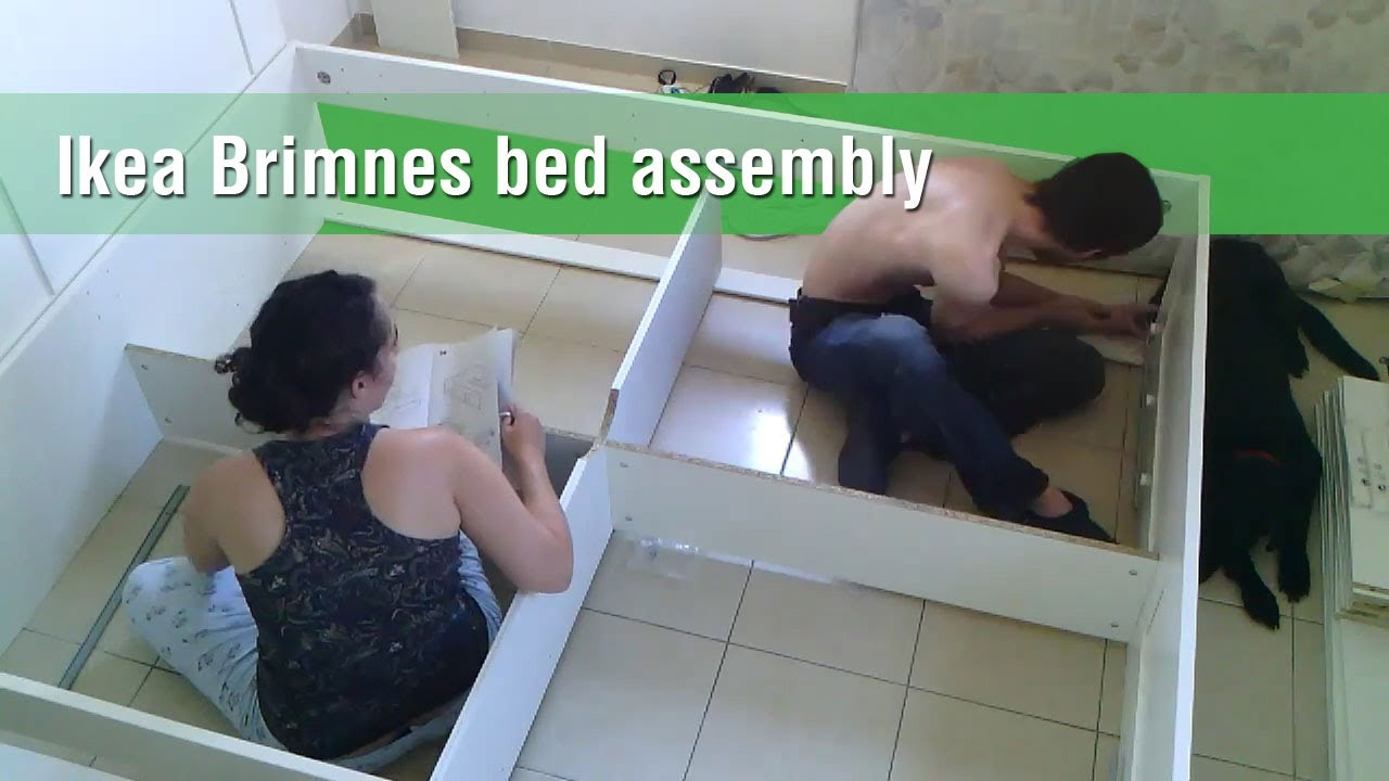 ikea brimnes bed construction timelapse youtube. Black Bedroom Furniture Sets. Home Design Ideas
