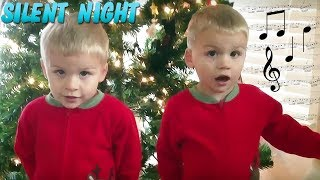 Cute Twins Sing Silent Night - Family Fun Pack
