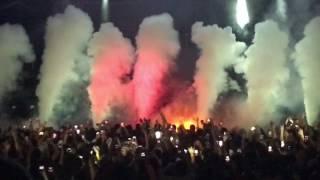 Travis Scott - Birds Eye View Tour - Fan Jumps on stage + Beibs in the Trap- Santa Barbara Bowl