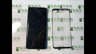 замена Стекла (Сенсора) SAMSUNG S9/S9 PLUS. Only Cracked Glass Disassembly