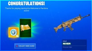 How To Get MAYHEM Wrap and Welcome to Pandora Challenge Guide in Fortnite!