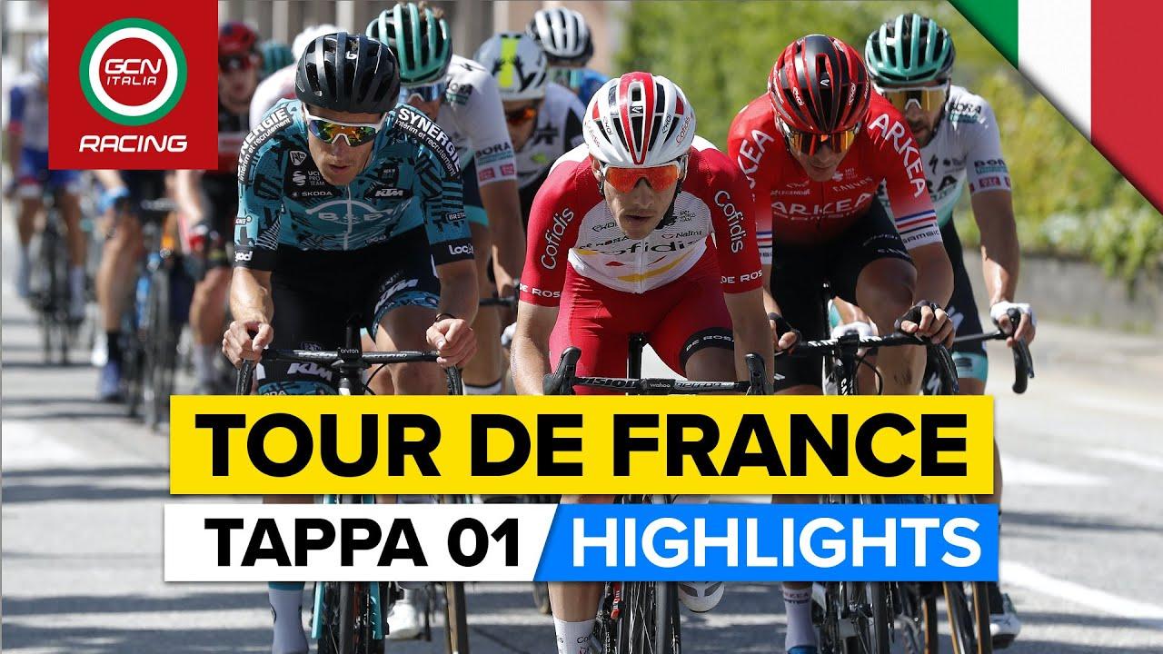 Tour de France Tappa 1 Highlights   Cadute, caos e un attacco epico di Alaphilippe!