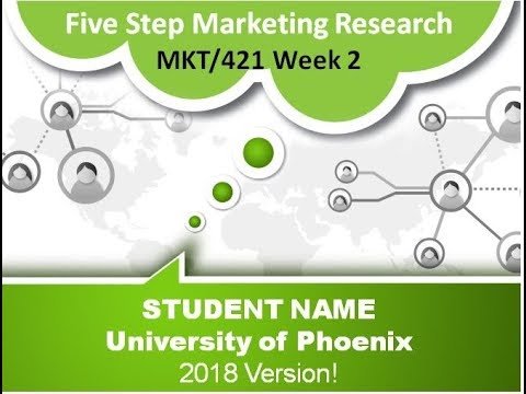 MKT/421 Week 2 Solving the Problem Five-Step Marketing Research Approach