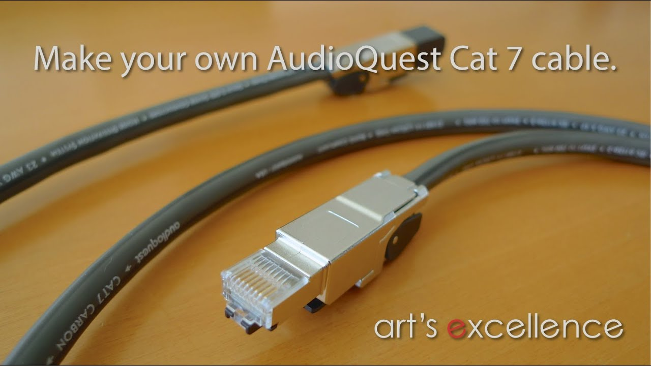 make your own audioquest cat 7 cable with teleg rtner. Black Bedroom Furniture Sets. Home Design Ideas
