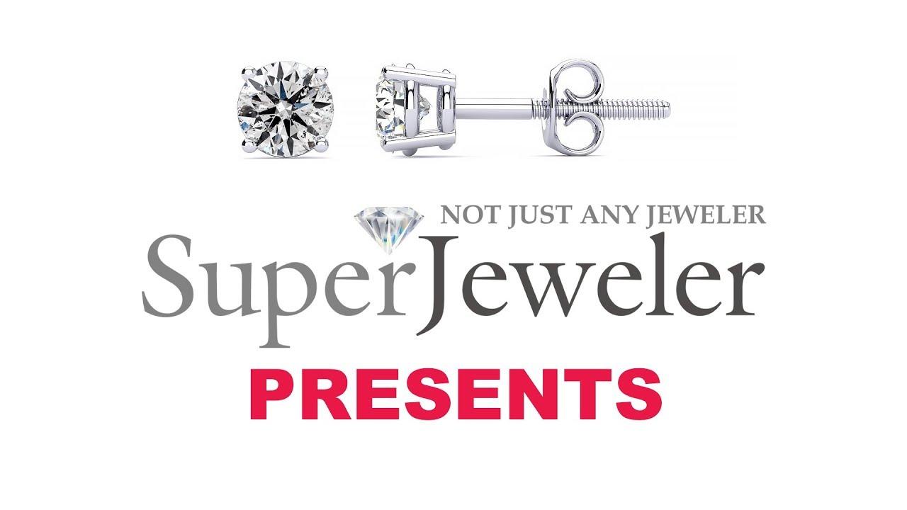 287fbf1b6 Diamond Stud Earrings | Diamond Earrings | 1 Carat Diamond Stud Earrings In 14  Karat White Gold. Fine White Color.