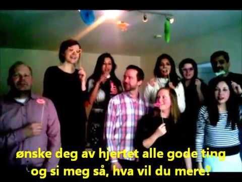 Hurra for deg! - Norwegian Birthday Song