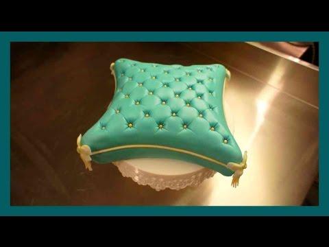 Pillow Cake - How to Fondant Pillow Cake - Pillow Cake Fondant Tutorial - Gcf