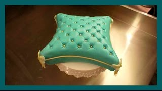 Pillow Cake - How to Fondant Pillow Cake - Pillow Cake Fondant Tutorial - Gcf