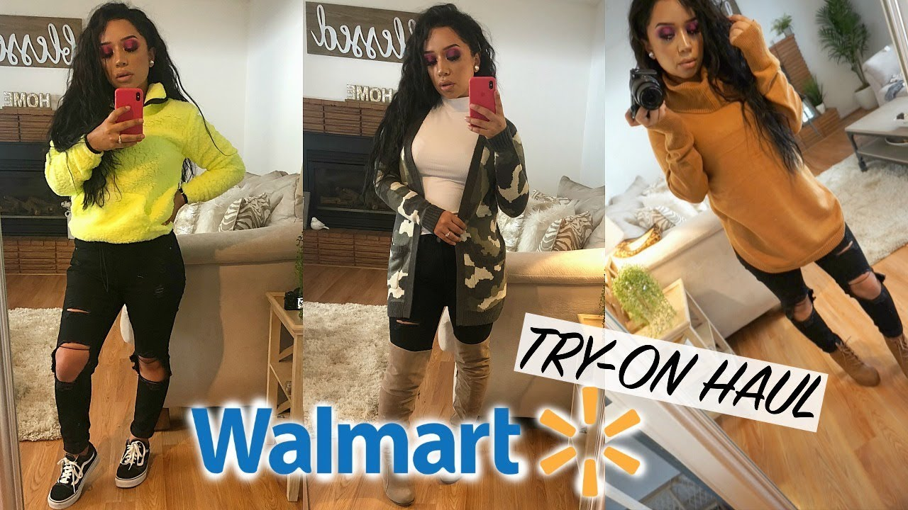 [VIDEO] - COME SHOP WITH ME! WALMART FALL FASHION FINDS 2019   TRY ON SWEATER HAUL!  ohmglashes 2