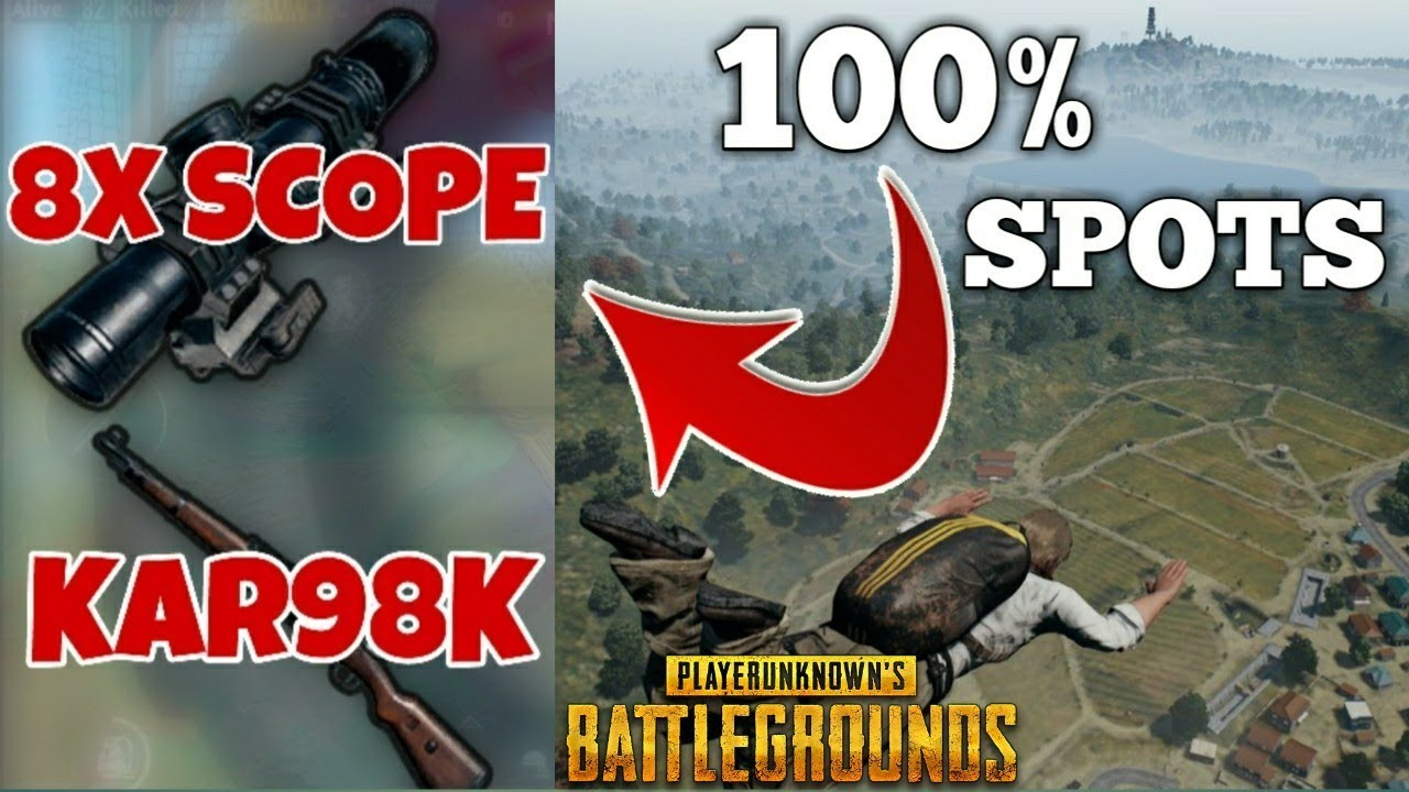 Download 100% Landing Spots To Get Kar98K with 8x Scope! PUBG!