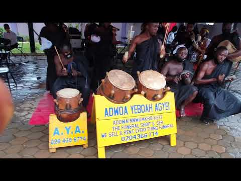 Adowa/kete dance group in Accra