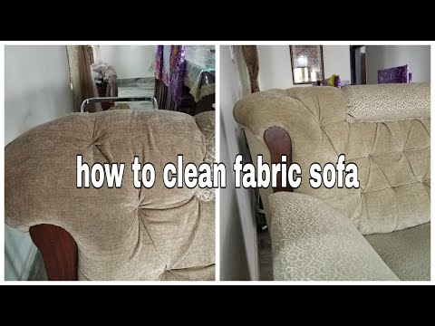How to clean fabric sofa. How to clean dirty couch