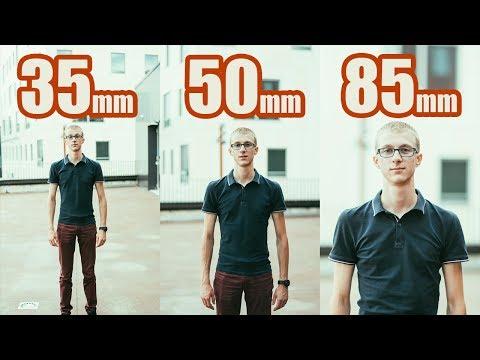 Comparaison OBJECTIFS 35mm 50mm 85mm