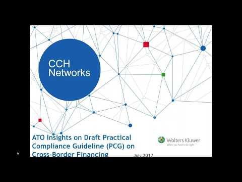 ATO Insights on Draft Practical Compliance Guideline PCG on Cross Border Financing