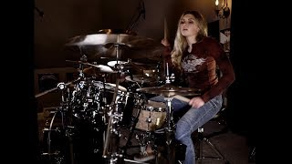 """White Zombie """"Super Charger Heaven"""" Drum Cover~Brooke C"""