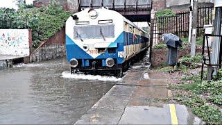 Trains running on water | Indian Railways | Flooded Railway Station
