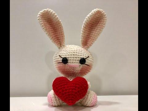 #3 Сердце вязаное крючком / вязаное сердечко для зайки - валентинки ввязанного крючком