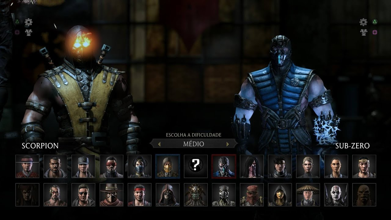 Mortal Kombat X Scorpion Vs Sub Zero Gameplay Pt Br Dublado Ps4