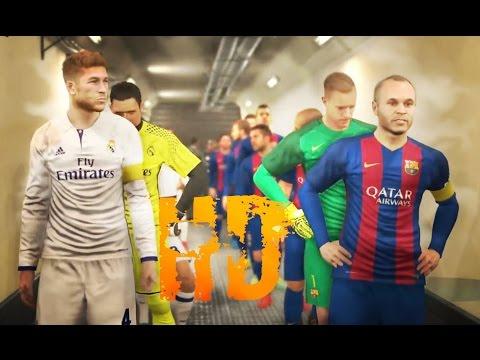 Pro Evolution Soccer 2017 Barcelona vs Real Madrid GamePlay PES 2017