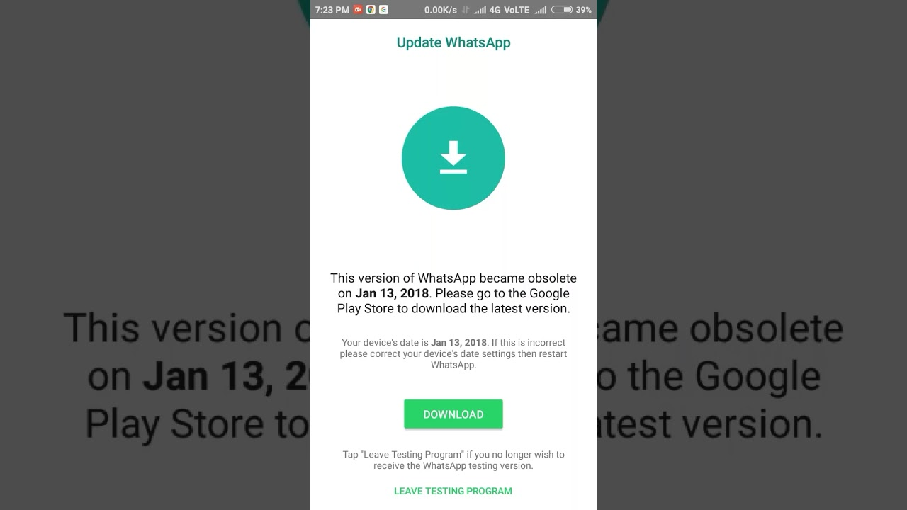 whatsapp wont download on iphone 7