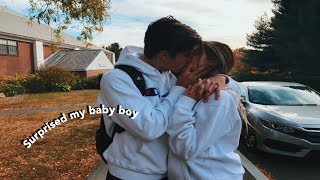 SURPRISING MY BOYFRIEND IN COLLEGE AFTER A MONTH AND A HALF OF NOT SEEING HIM || Valeria Arguelles