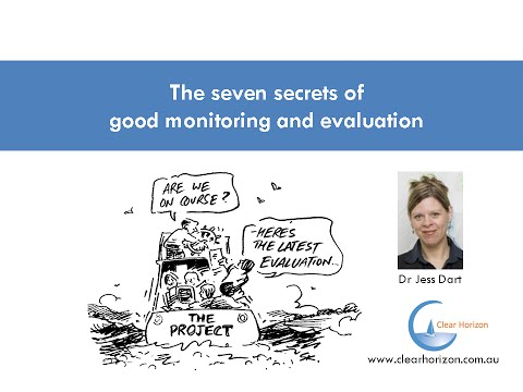 The seven secrets of good monitoring and evaluation