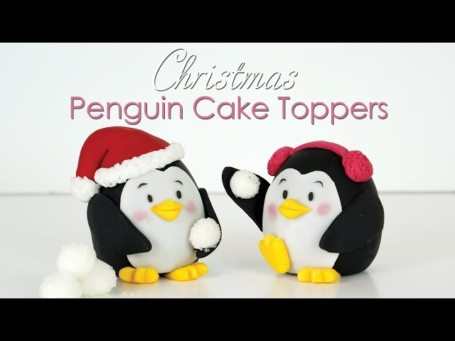 Christmas Penguin Cake Toppers Tutorial