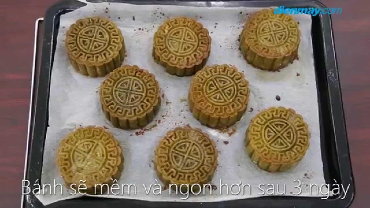 Cách làm bánh trung thu trà xanh đậu đỏ   Điện máy XANH