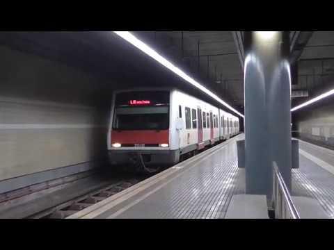 Ferrocarriles de la Generalitat de Cataluña - 213.02 en colores originales con destino Moli Nou