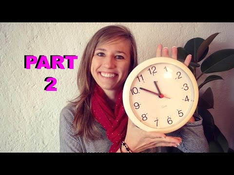 GERMAN LESSON 60: How to tell the TIME in German (part 2)