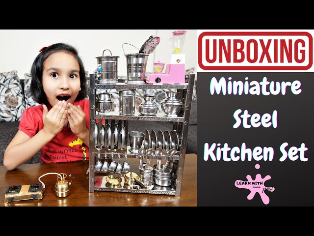 Miniature Steel cooking Set Unboxing in Hindi | #LearnWithPari