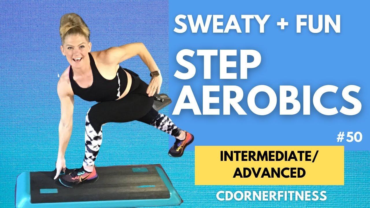 Step Aerobics Workout Advanced To Intermediate 138 Bpm Workout Youtube