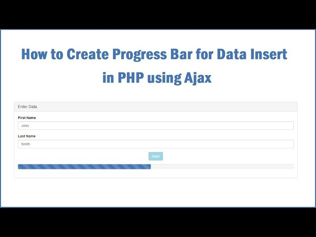 PHP Ajax Insert Data Process Display in Progress bar