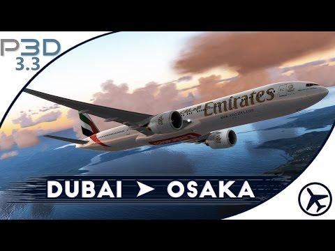 Nos vamos a Japón! | DXB - KIX | B777 [PMDG] | Prepar3D 3.3 [IVAO]