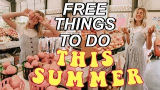 15 FREE things to do this summer!