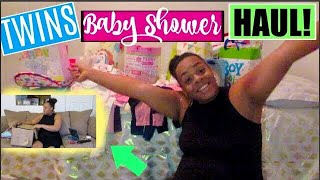 TWINS BABY SHOWER HAUL💖💙 | ( High Risk Pregnancy ) | Davis Family