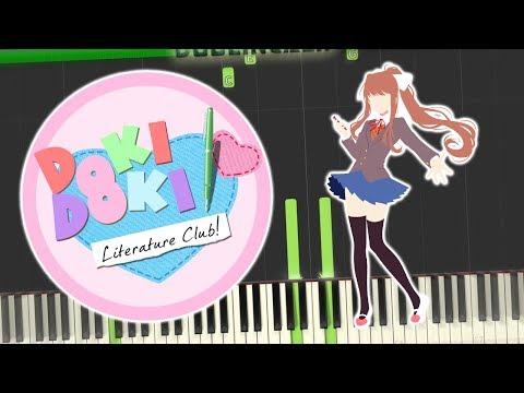 Doki Doki Literature Club - Your Reality/Credits Theme Piano Tutorial Synthesia