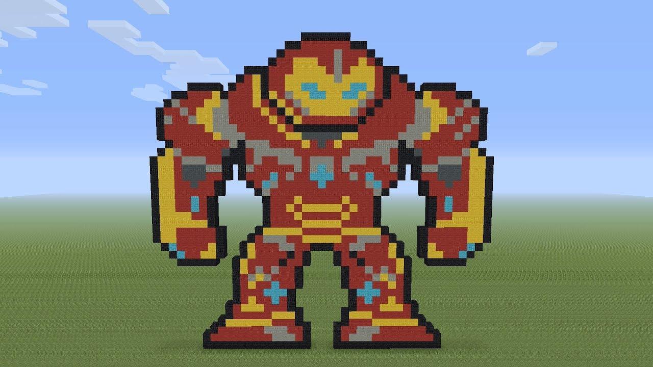 Minecraft Pixel Art Hulkbuster Armor